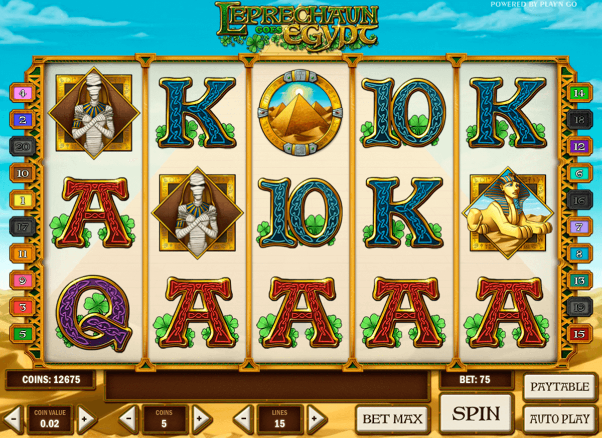 leprechaun goes egypt playn go casino gokkasten