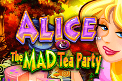 logo alice and the mad tea party wms gokkast spelen