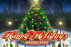 logo happy holidays microgaming gokkast spelen