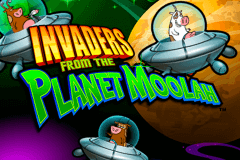 logo invaders from the planet moolah wms gokkast spelen