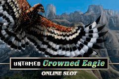 logo untamed crowned eagle microgaming gokkast spelen