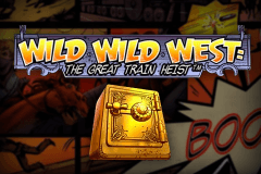 logo wild wild west the great train heist netent gokkast spelen