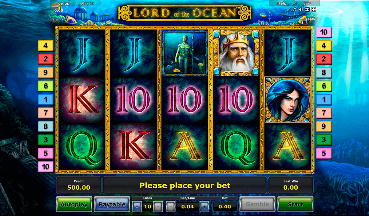 lord of the ocean novomatic casino gokkasten