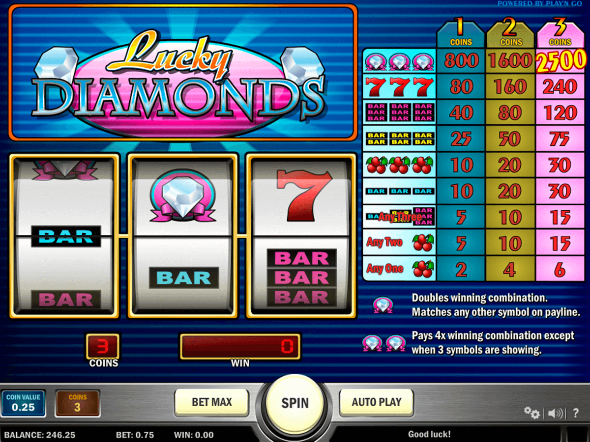 lucky diamonds playn go casino gokkasten