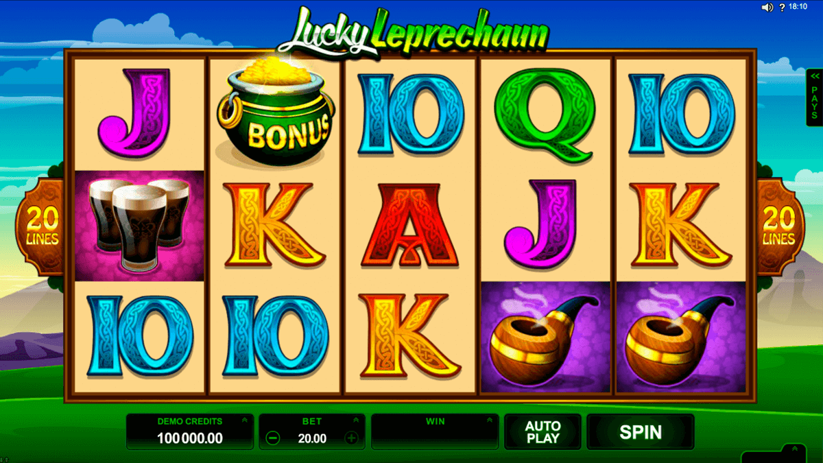 lucky leprechaun microgaming casino gokkasten