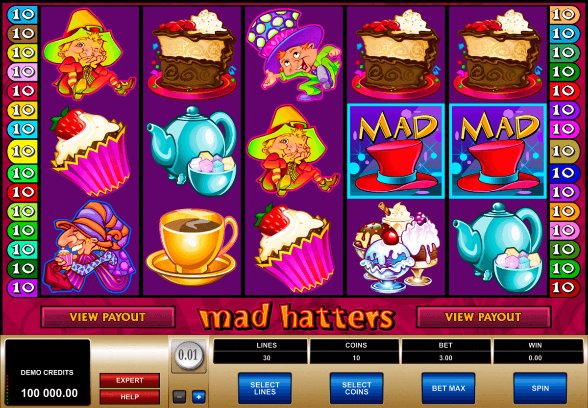 mad hatters microgaming casino gokkasten