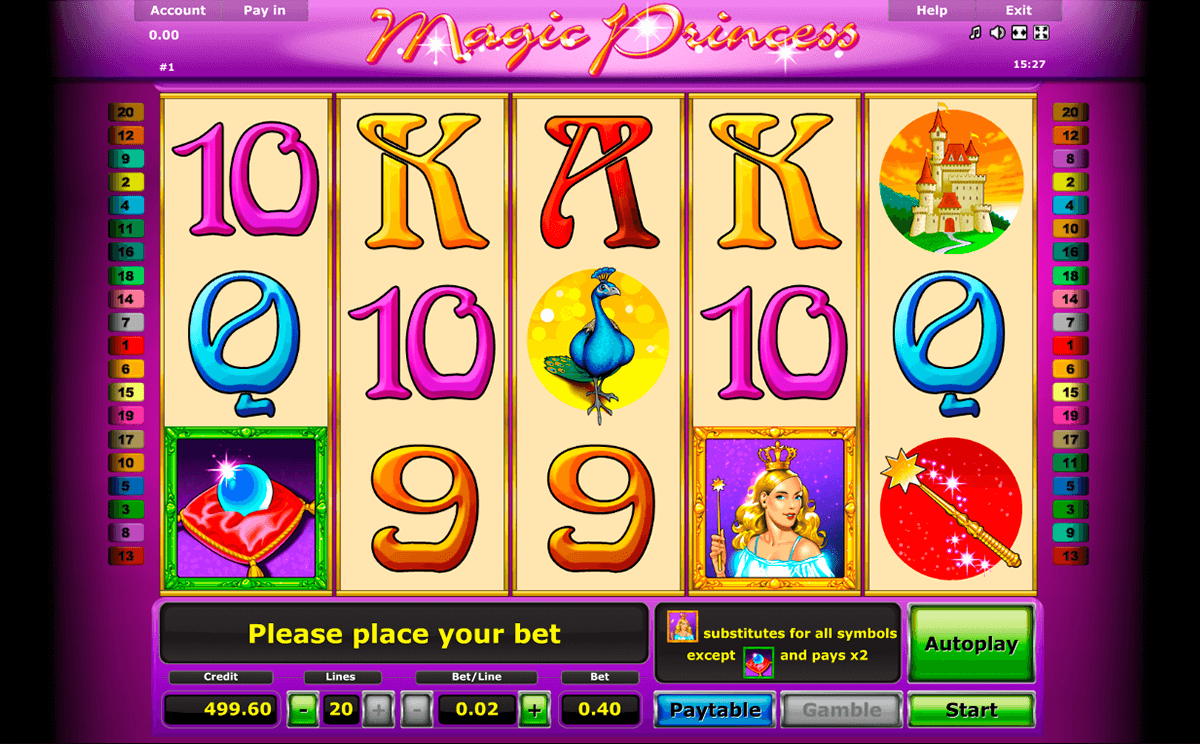 magic princess novomatic casino gokkasten