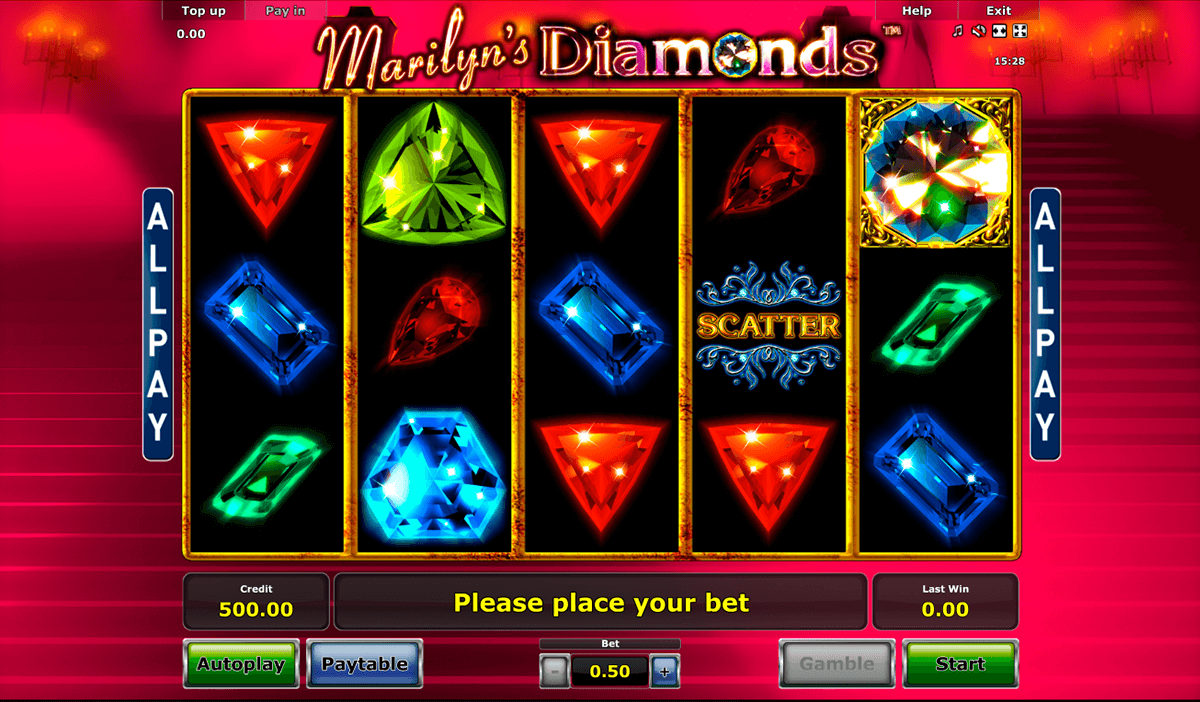 marilyns diamonds novomatic casino gokkasten