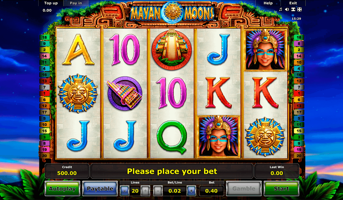 mayan moons novomatic casino gokkasten