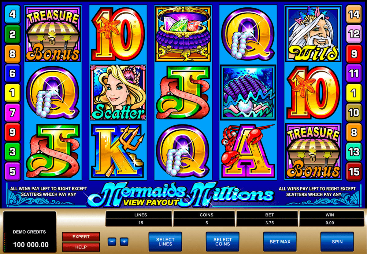 mermaids millions microgaming casino gokkasten
