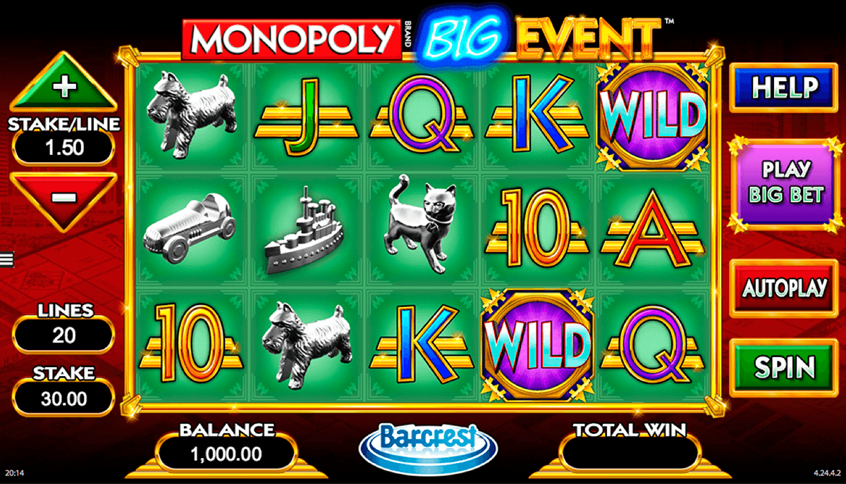 monopoly big event wms casino gokkasten