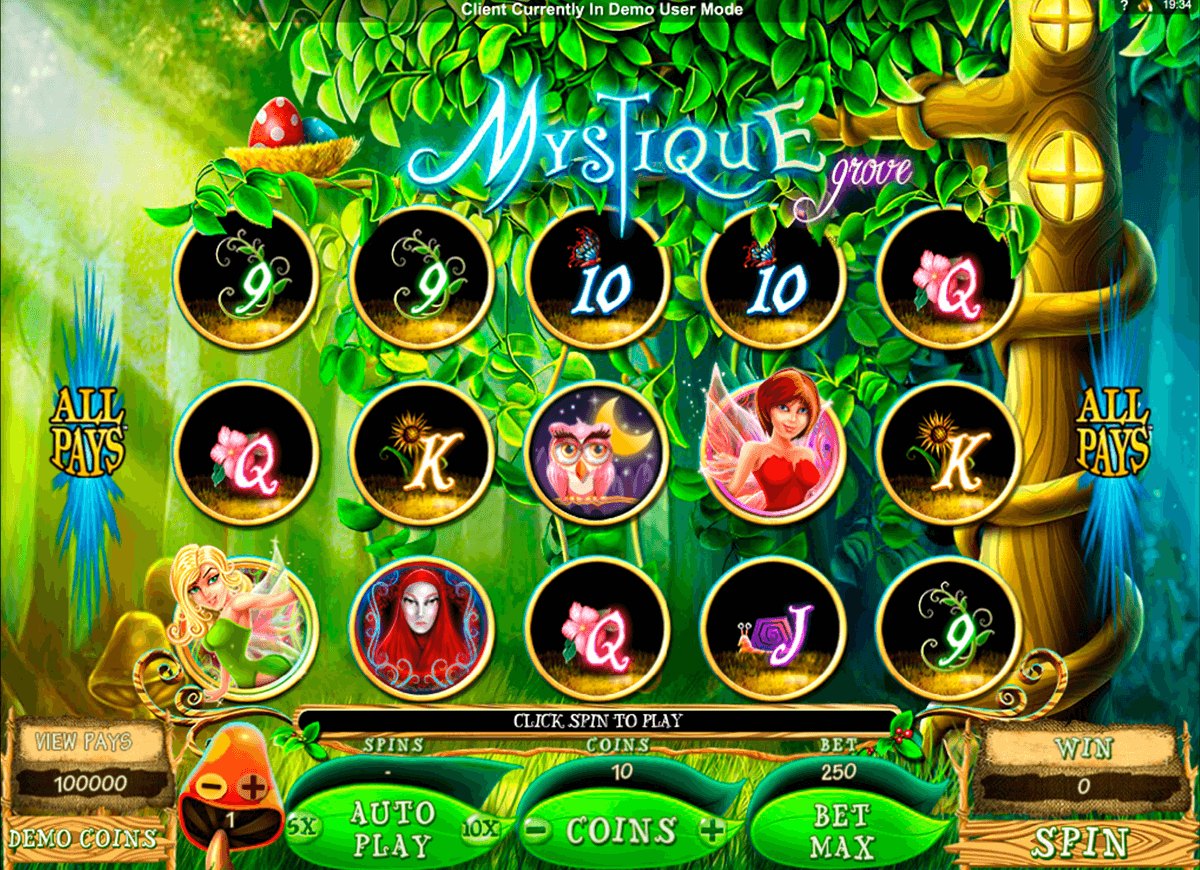 mystique grove microgaming casino gokkasten