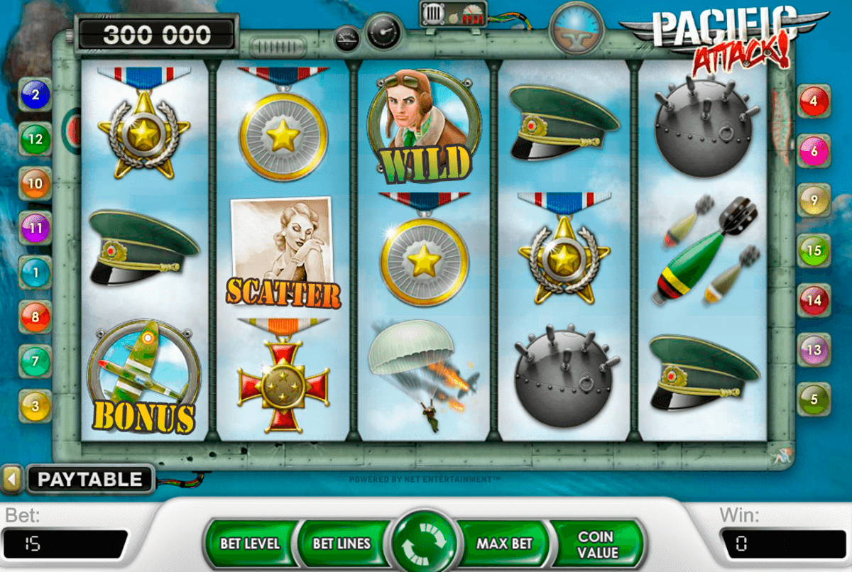 pacific attack netent casino gokkasten