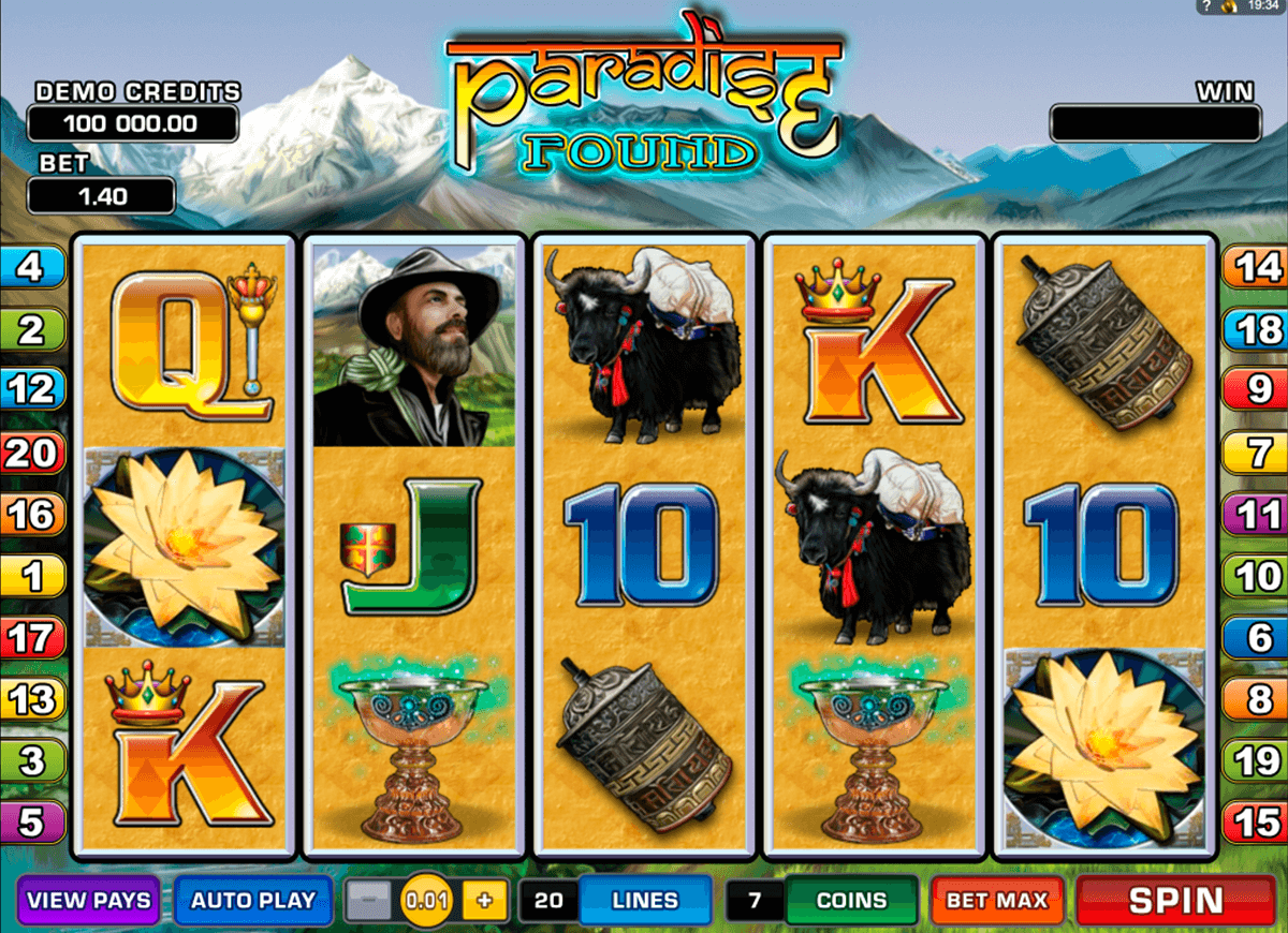 paradise found microgaming casino gokkasten