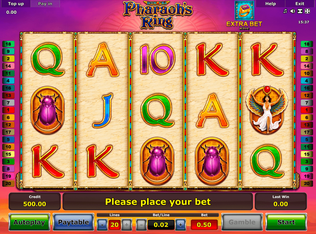 pharaohs ring novomatic casino gokkasten