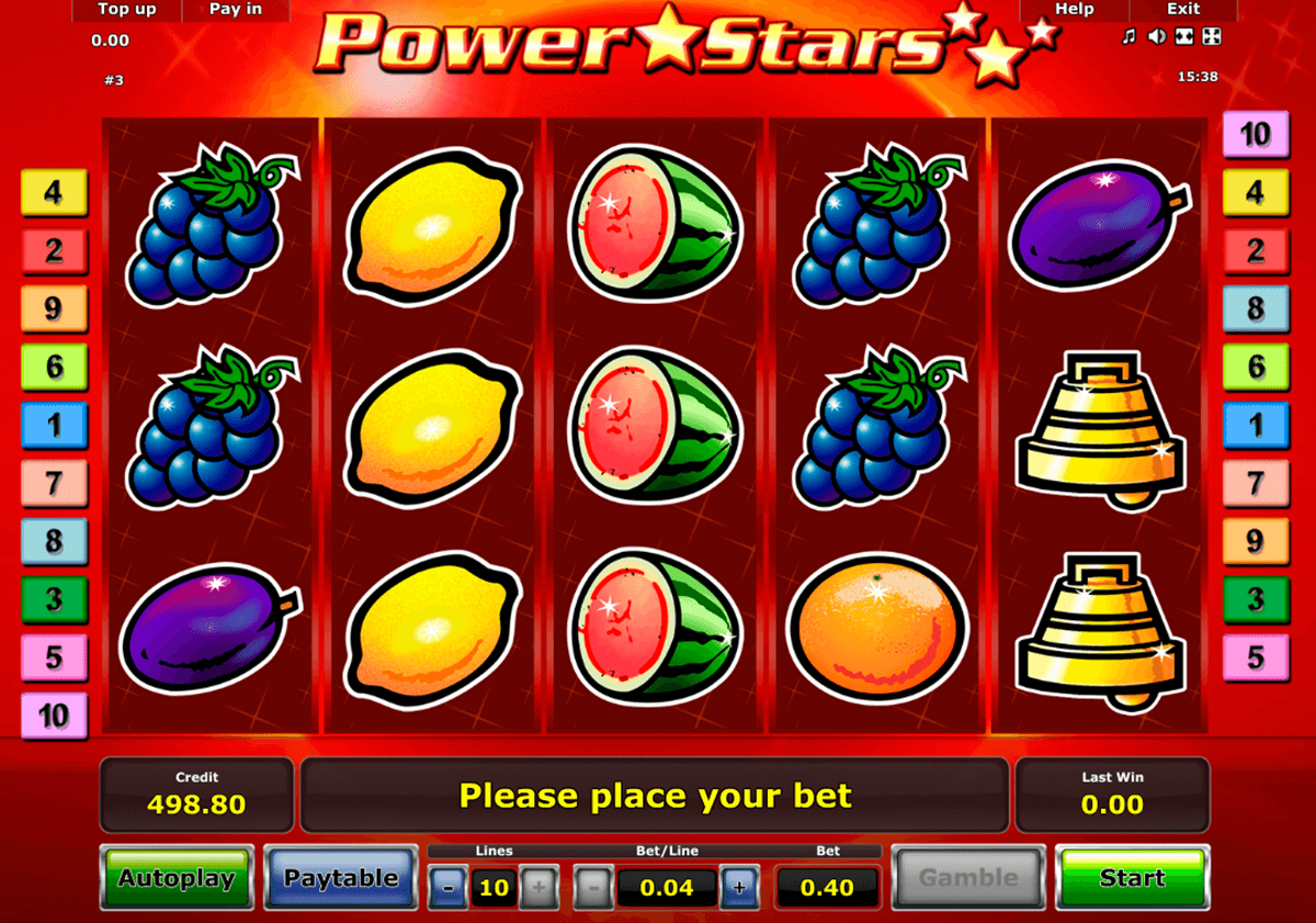 power stars novomatic casino gokkasten