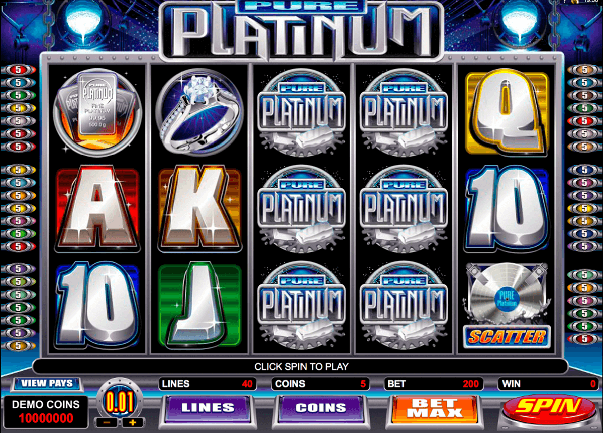 pure platinum microgaming casino gokkasten