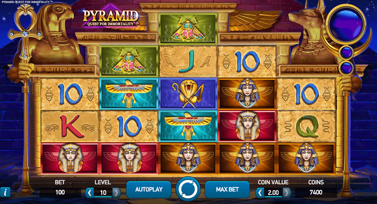 pyramid quest for immortality netent casino gokkasten