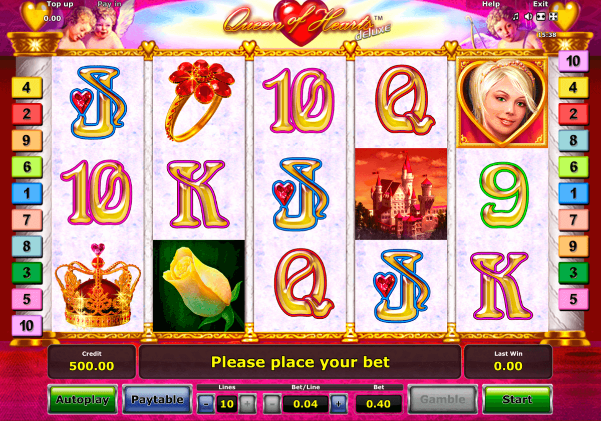 queen of hearts deluxe novomatic casino gokkasten