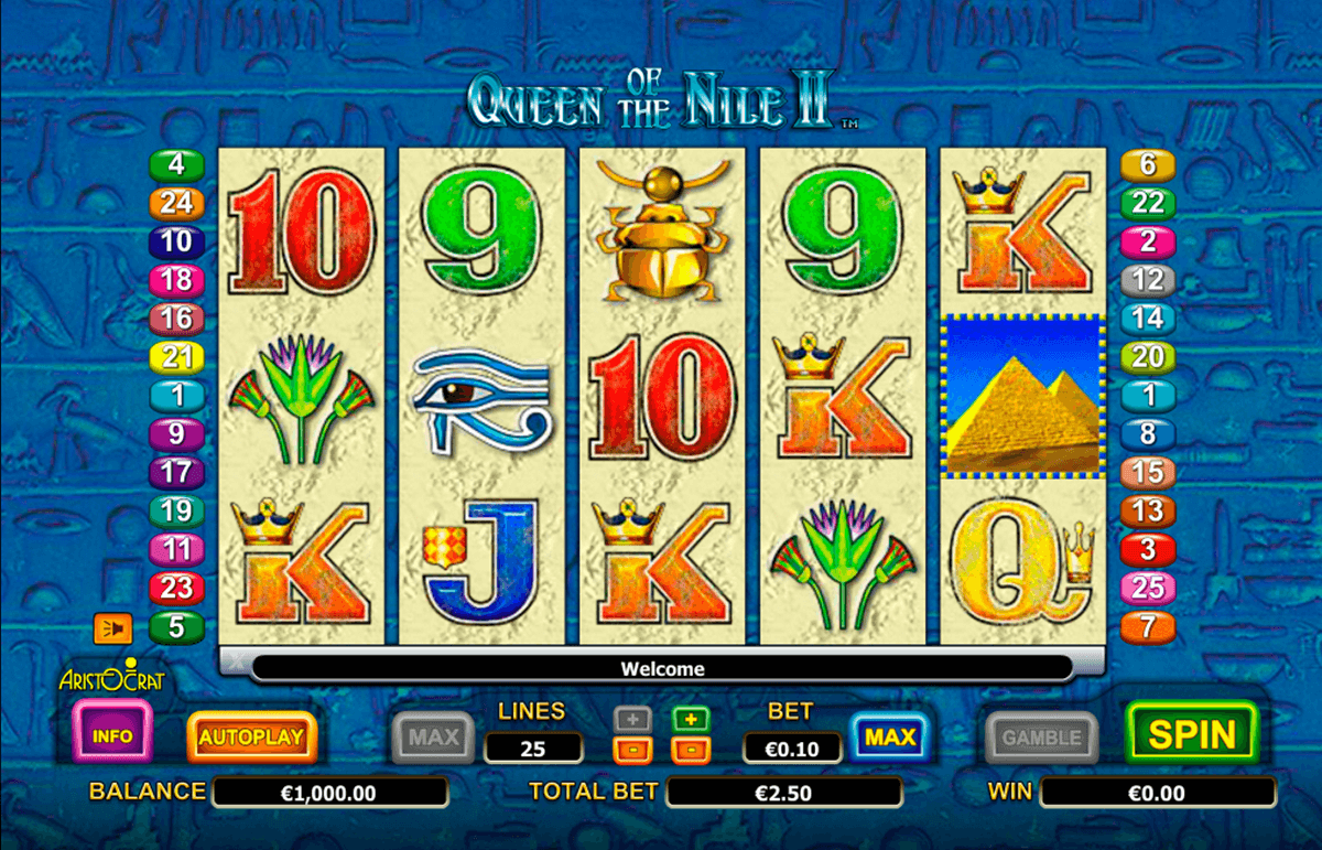 queen of the nile ii aristocrat casino gokkasten