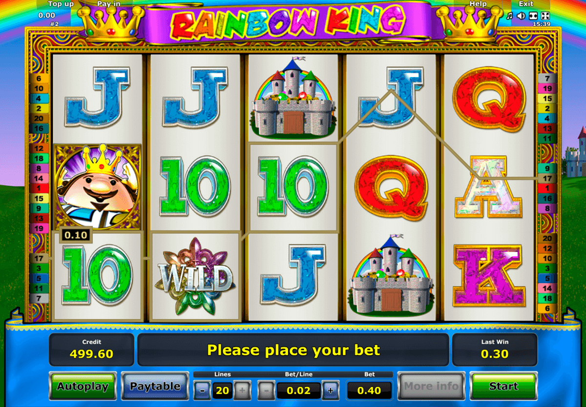 rainbow king novomatic casino gokkasten