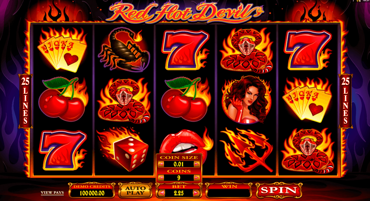 red hot devil microgaming casino gokkasten