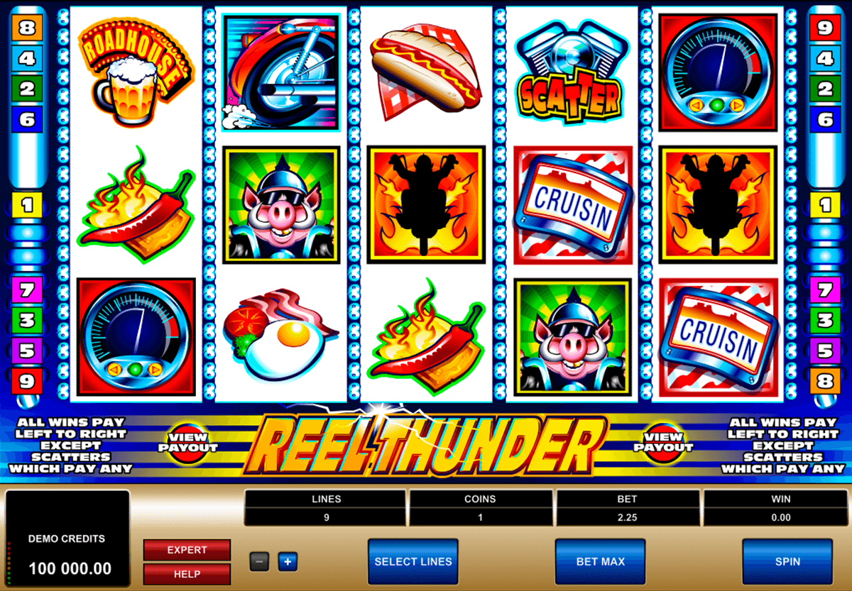reel thunder microgaming casino gokkasten