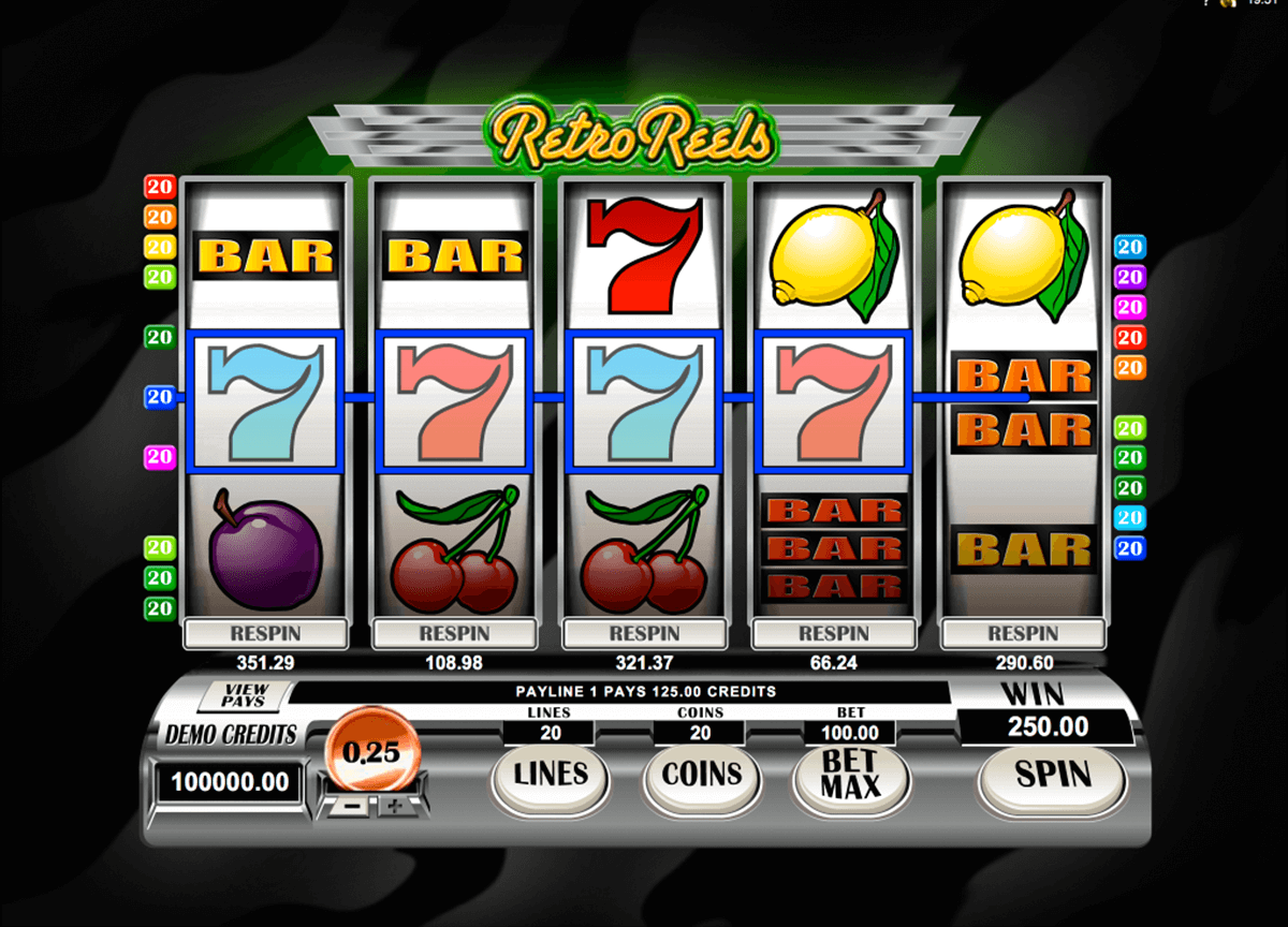 retroreels microgaming casino gokkasten