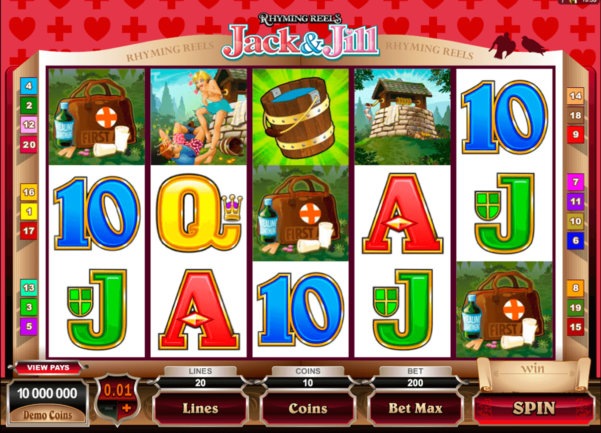 rhyming reels jack and jill microgaming casino gokkasten