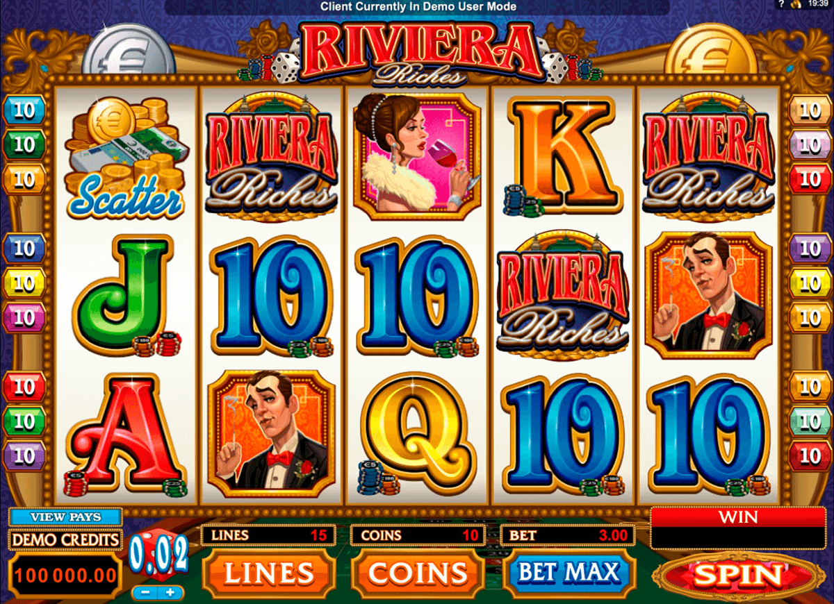 riviera riches microgaming casino gokkasten