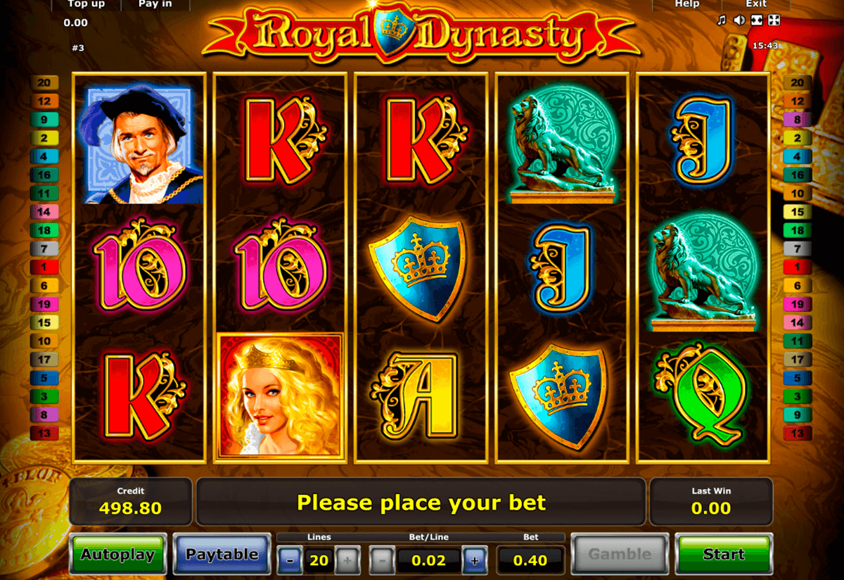 royal dynasty novomatic casino gokkasten