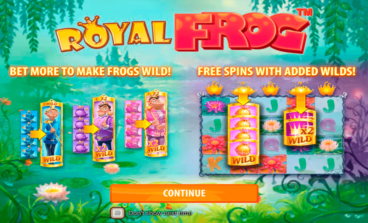royal frog quickspin casino gokkasten