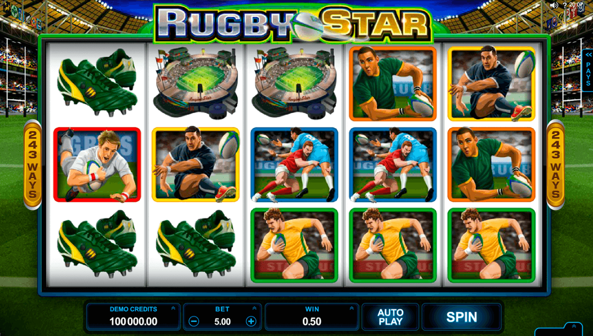 rugby star microgaming casino gokkasten