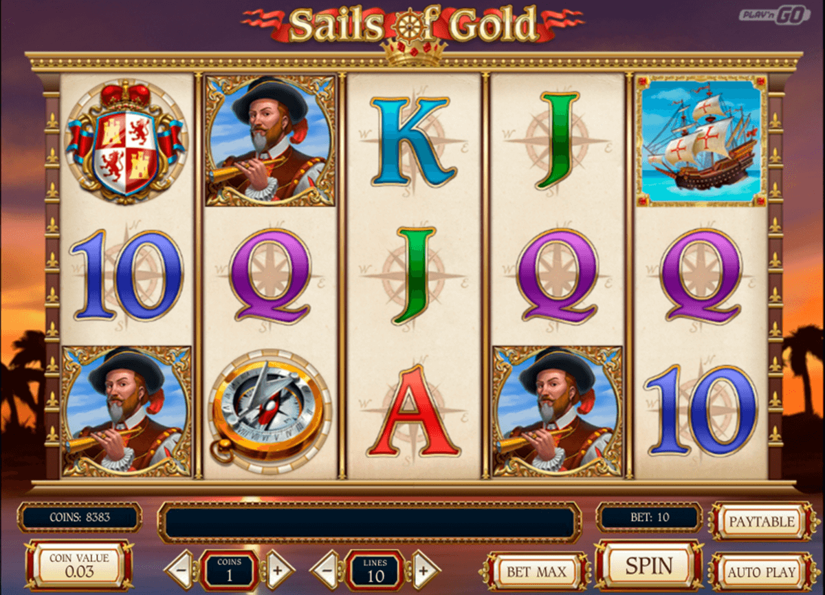 sails of gold playn go casino gokkasten