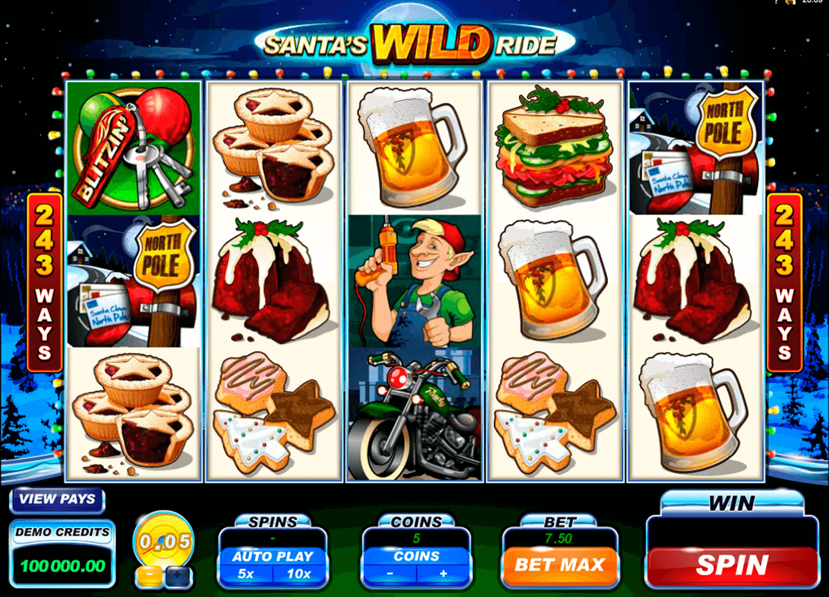 santas wild ride microgaming casino gokkasten