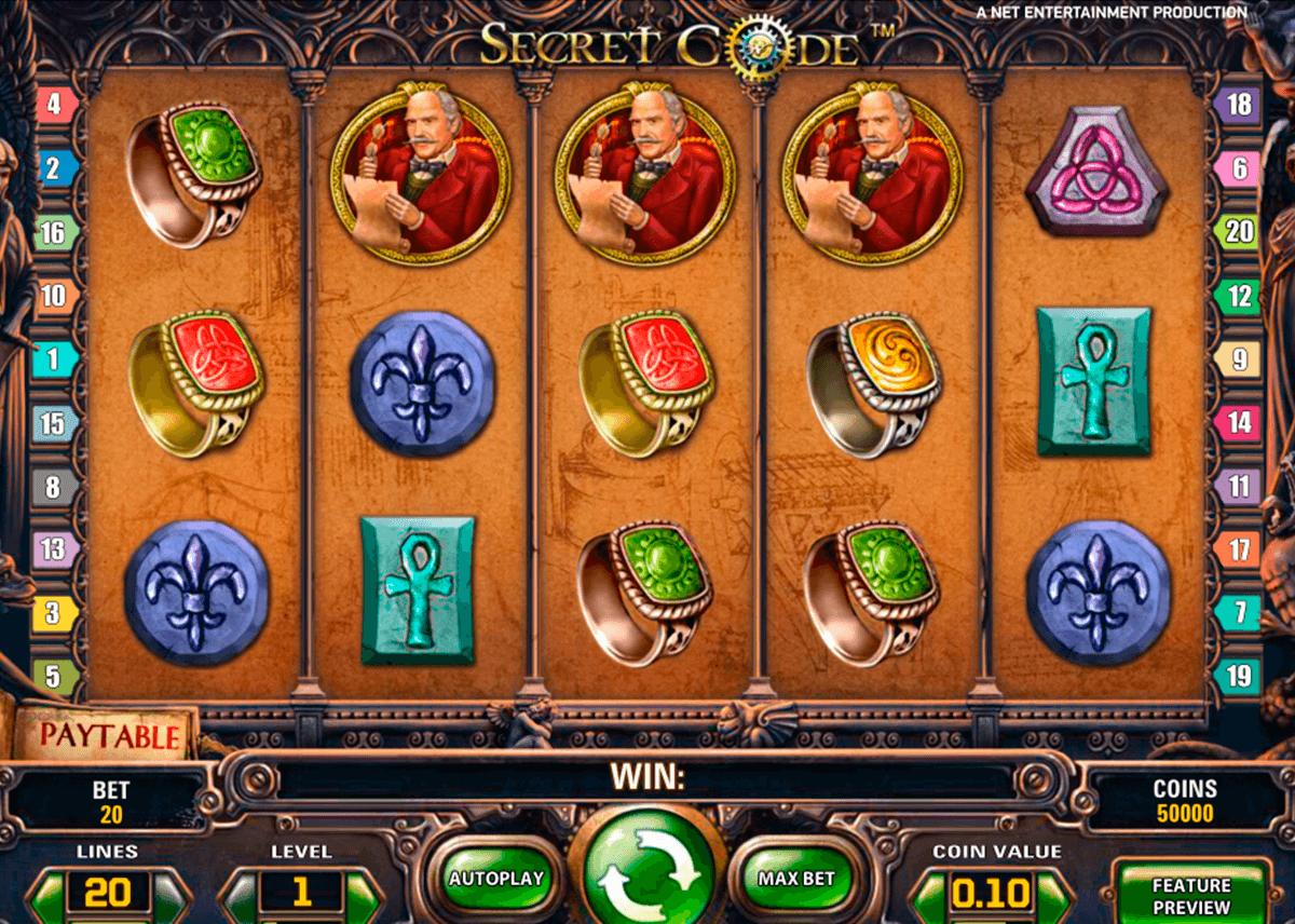 secret code netent casino gokkasten