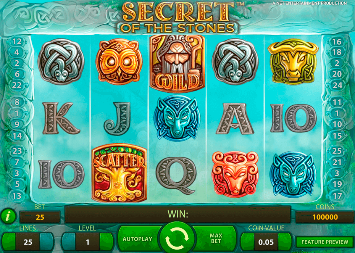 secret of the stones netent casino gokkasten
