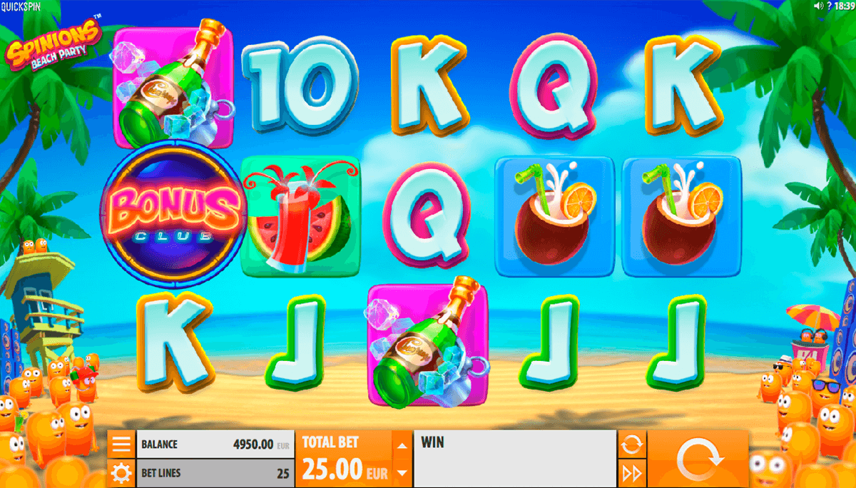 spinions beach party quickspin casino gokkasten