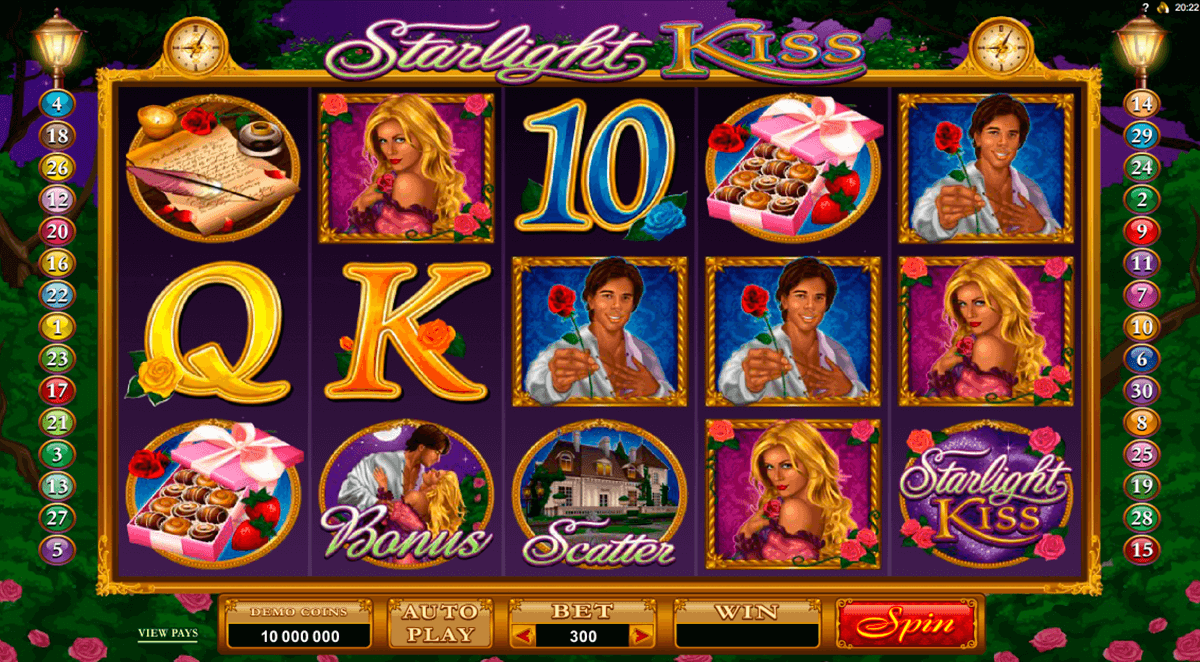 starlight kiss microgaming casino gokkasten