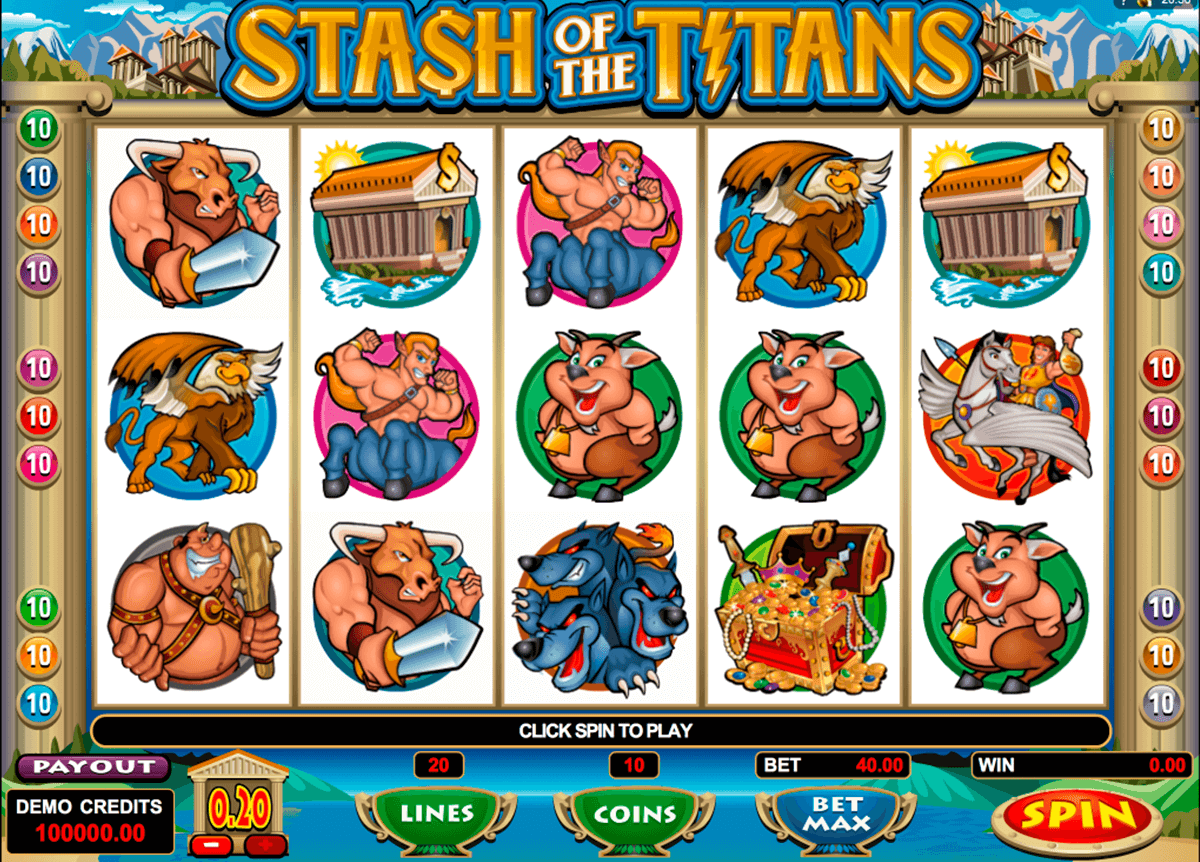 stash of the titans microgaming casino gokkasten