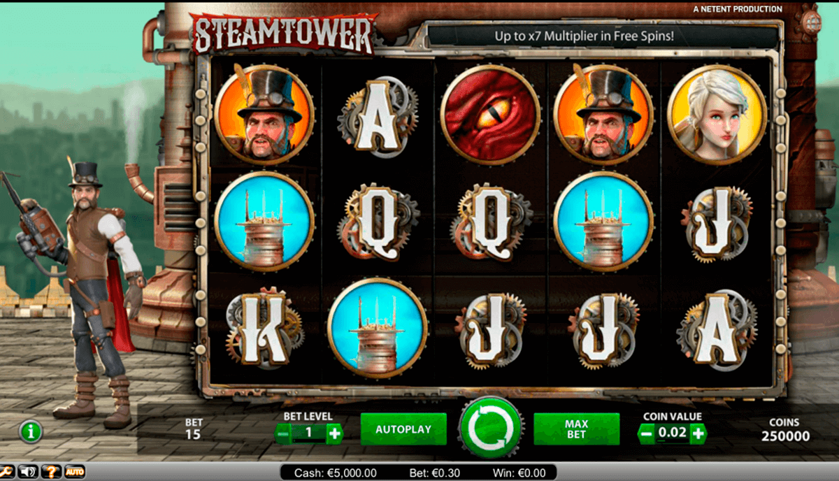 steam tower netent casino gokkasten