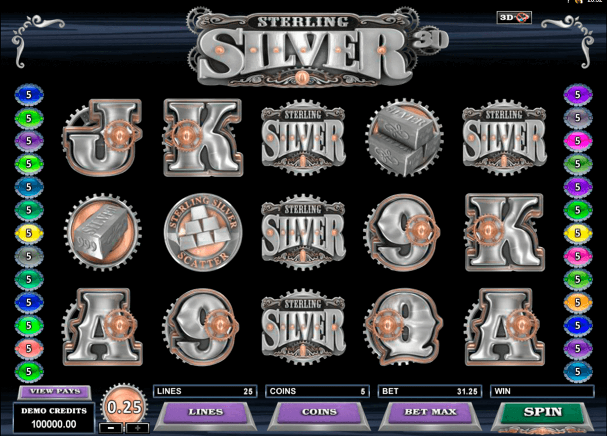 sterling silver 3d microgaming casino gokkasten