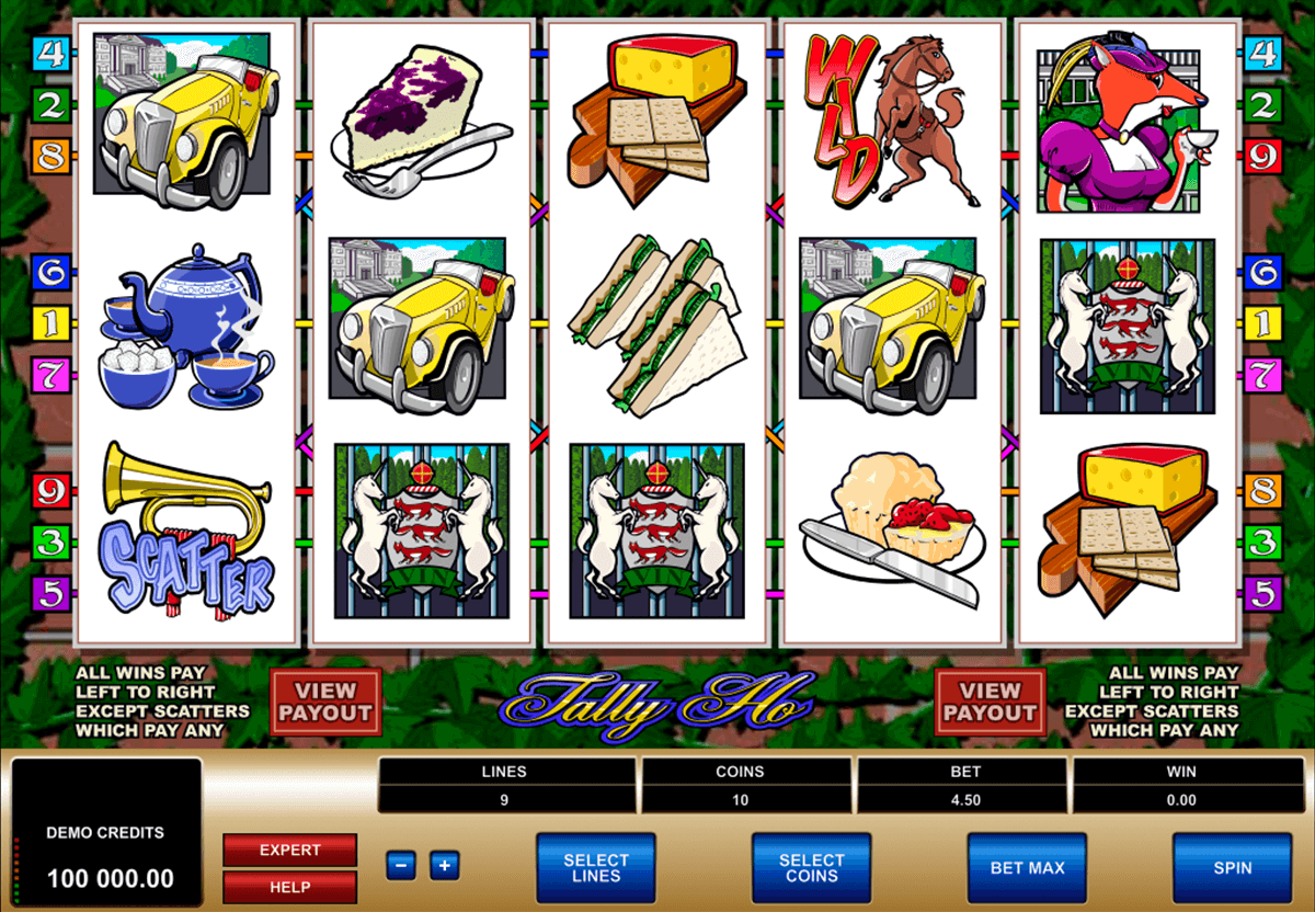 tally ho microgaming casino gokkasten