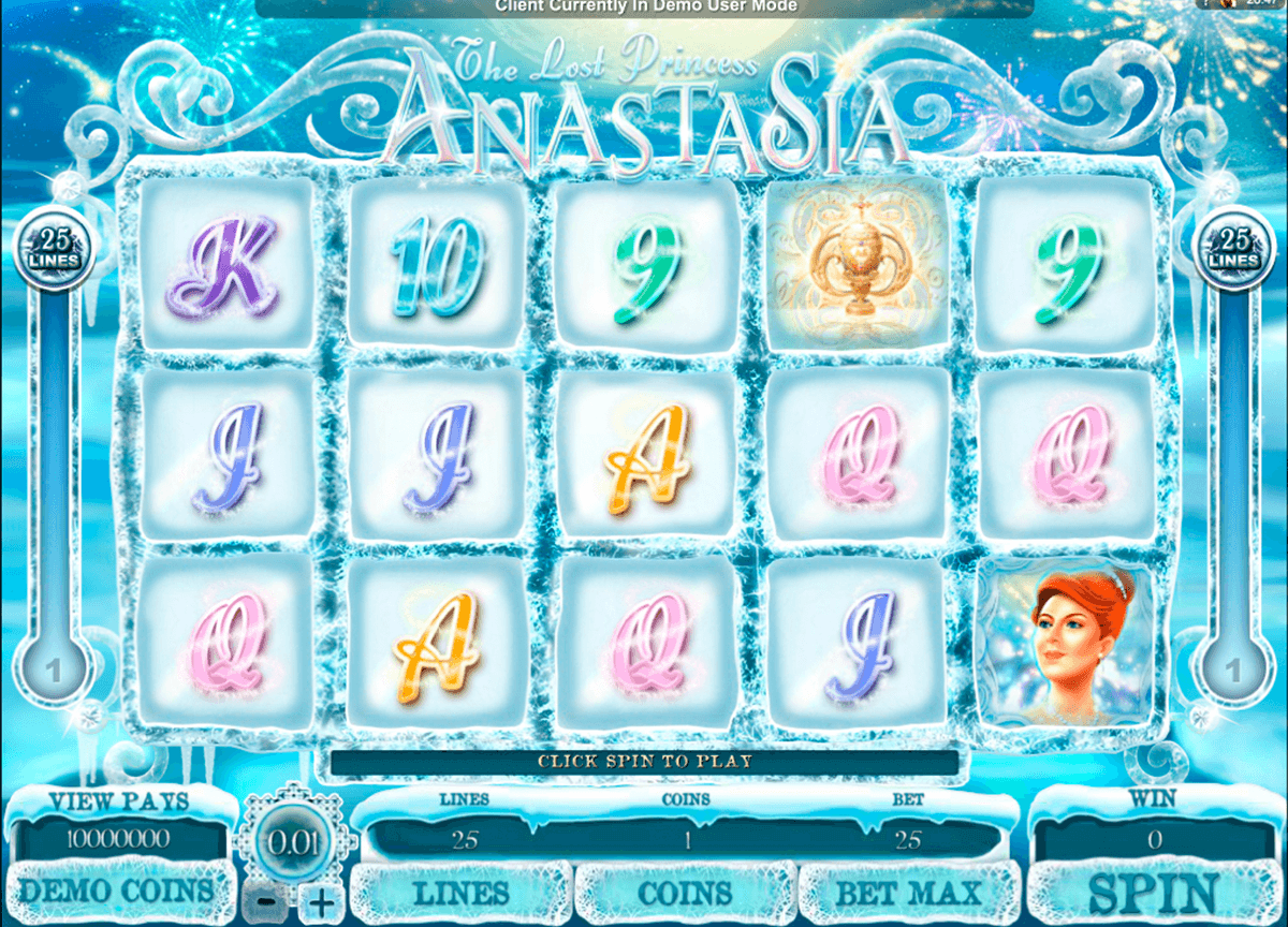 the lost princess anastasia microgaming casino gokkasten