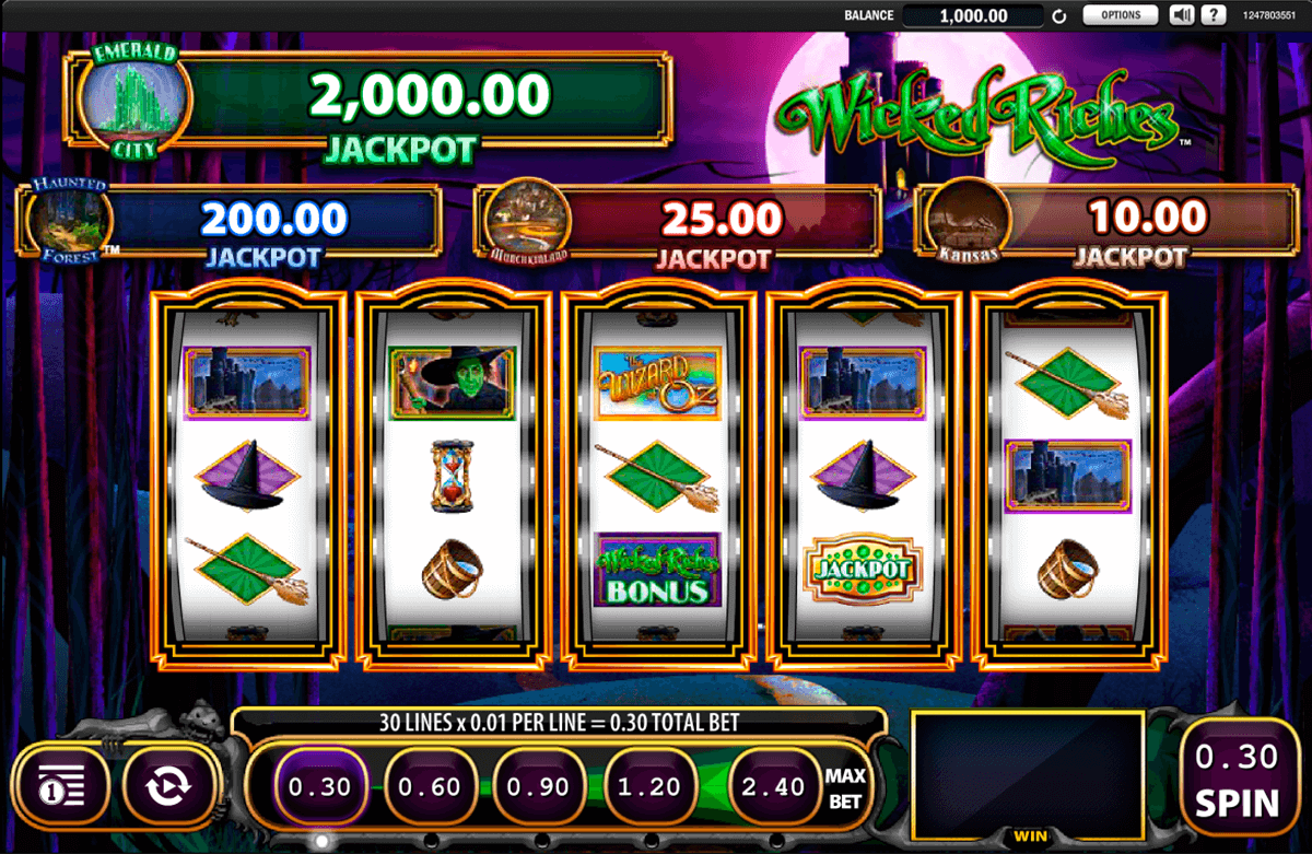 the wizard of oz wicked riches wms casino gokkasten