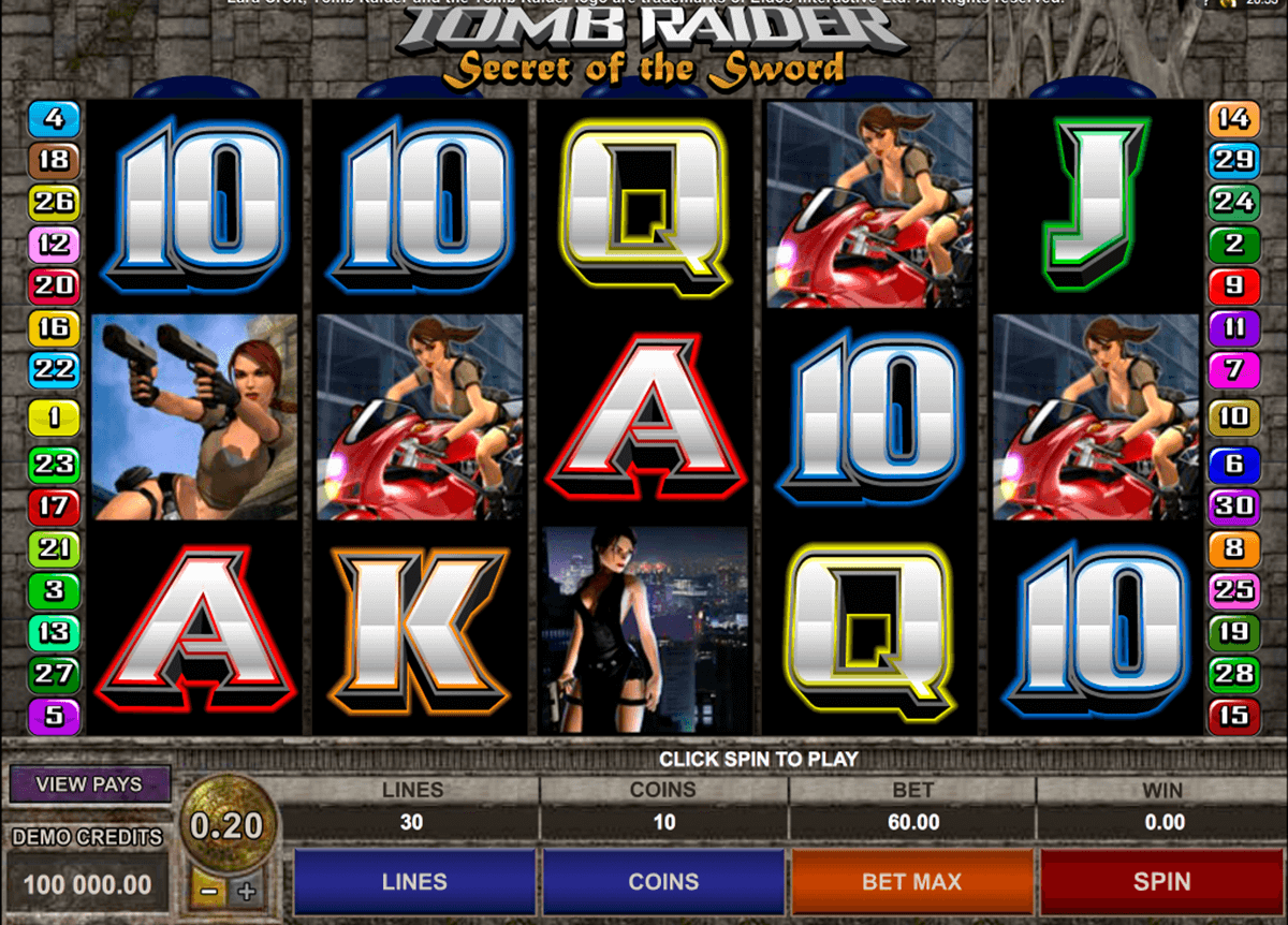 tomb raider ii microgaming casino gokkasten