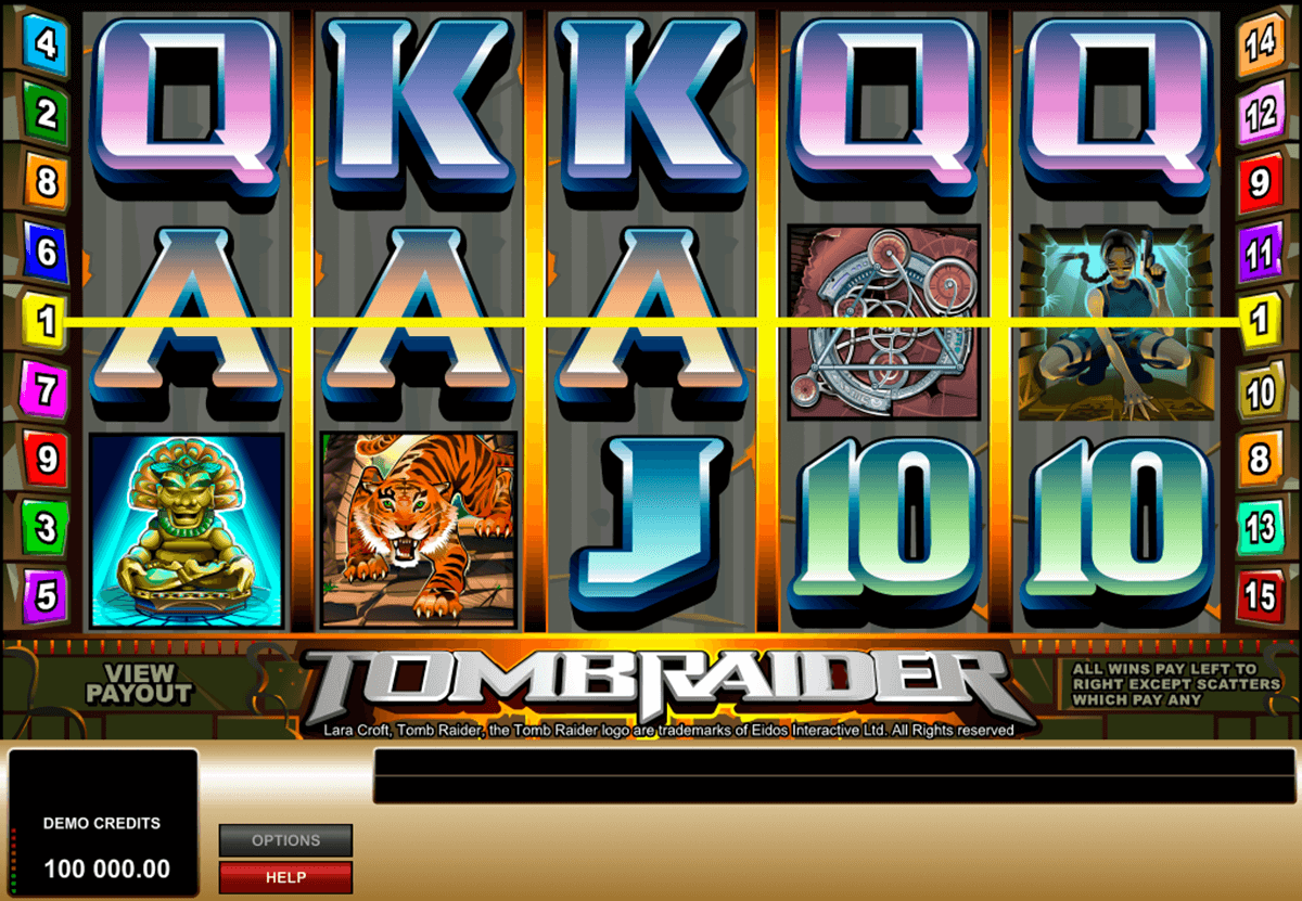 tomb raider microgaming casino gokkasten