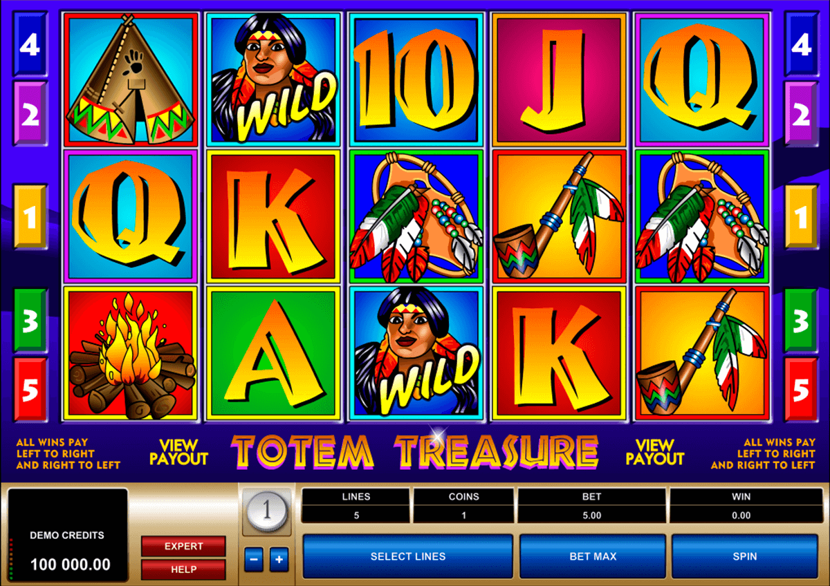 totem treasure microgaming casino gokkasten