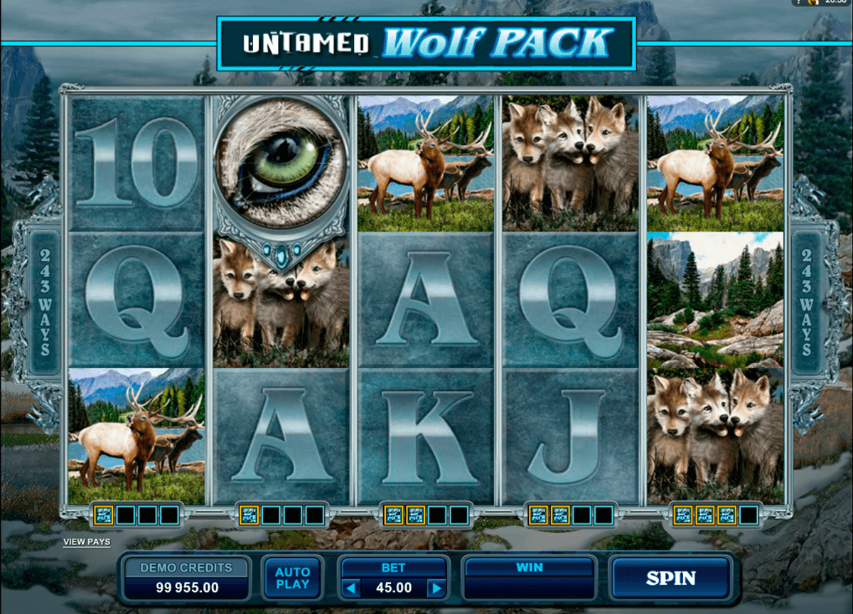 untamed wolf pack microgaming casino gokkasten