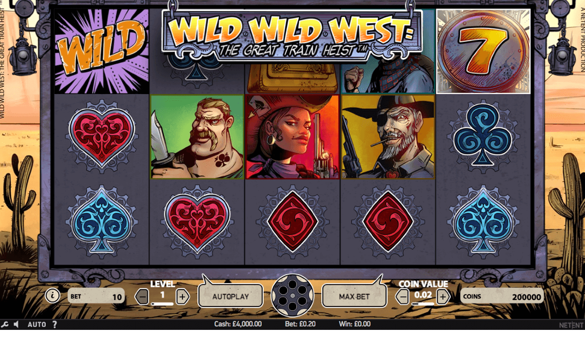 wild wild west the great train heist netent casino gokkasten